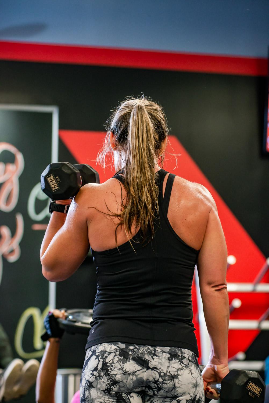 Bicep curls Atlanta Gym Photography