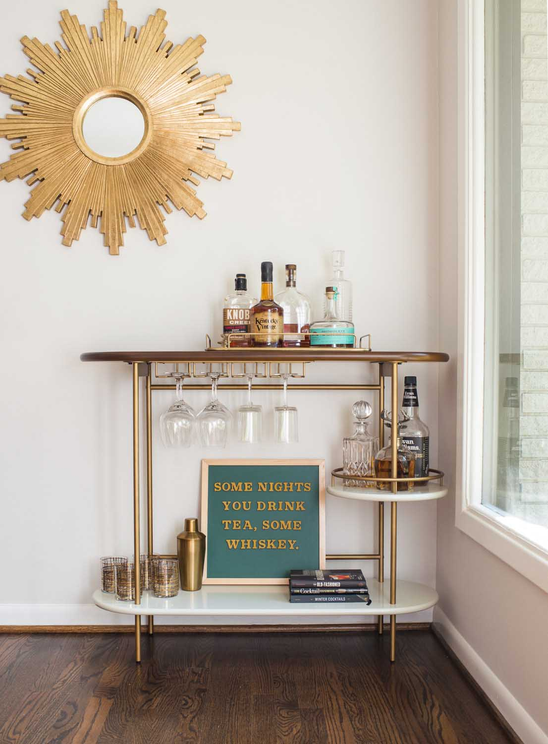 The Typeset Co product photography creative bar cart