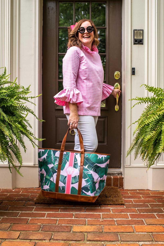 Paige Minear Pink Clutch blog