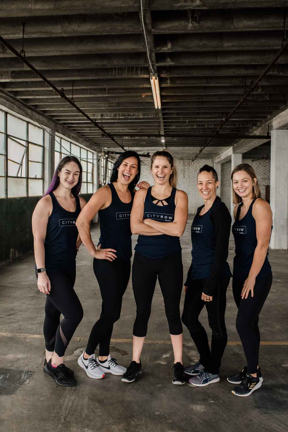 City Row atlanta fitness studio photography
