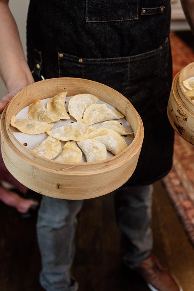 Chef Michael Oh dumpling